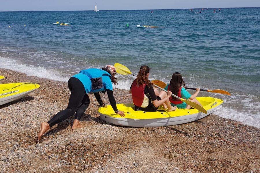 camping amb nens platja