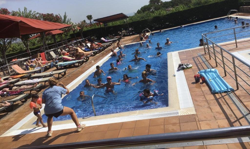 camping piscina animación niños